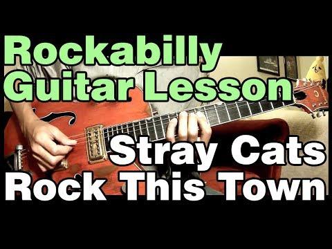 【ロカビリーギターレッスン】 ストレイキャッツのファーストアルバムより「ロックディスタウン」のギターソロを解説。 ※2つ目のソロは14:15...
