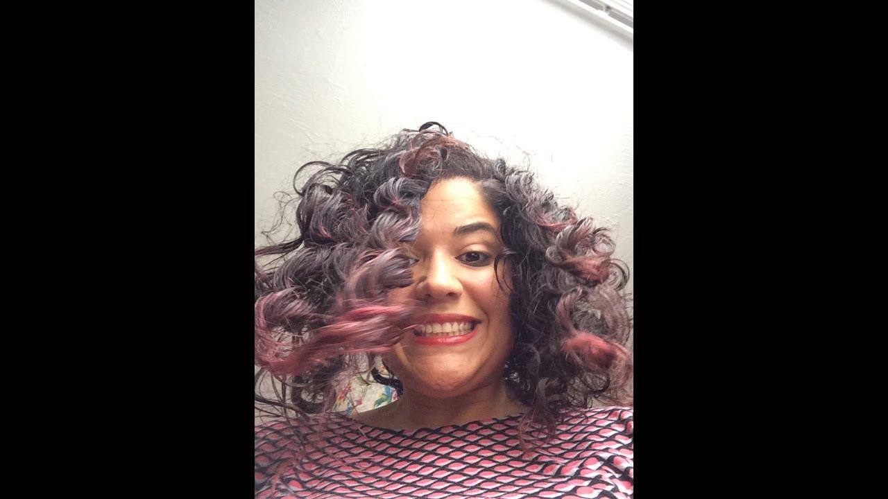 Live Color Xxl Purple Punk On Dark Brown Hair Youtube