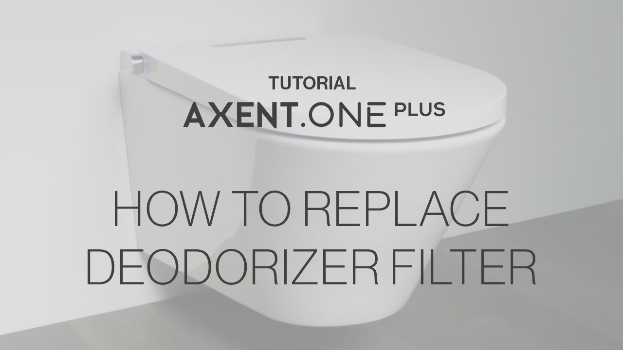 Axent One Shower Toilet Replace Deodorizer Filter Youtube