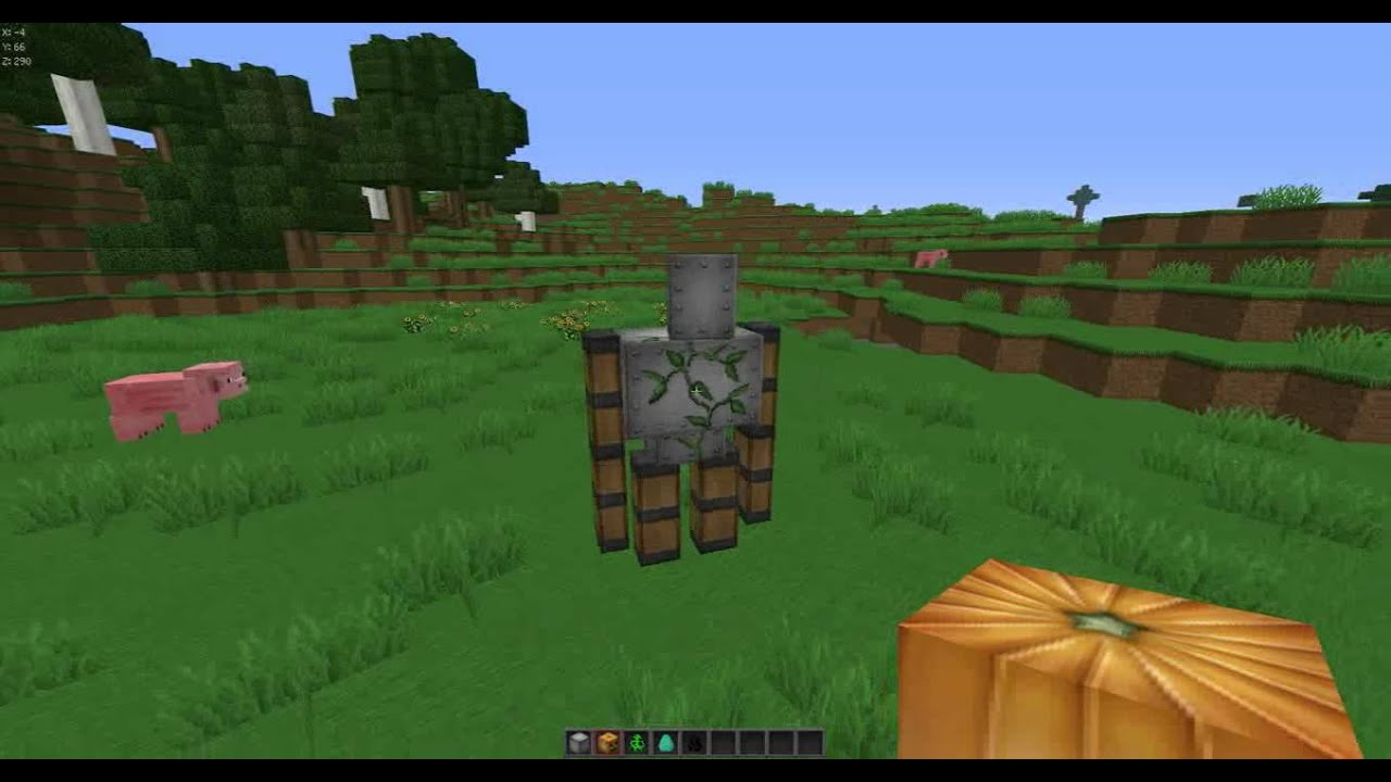 how to make an iron golem in minecraft xbox 1
