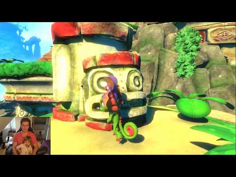 Playing game together with my sister's little daughter. Game is Yooka-LaYLee |