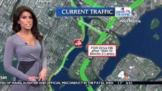 NBC 4 New York News: Lauren Scala Beautiful Gray Dress (2-12-16) Video
