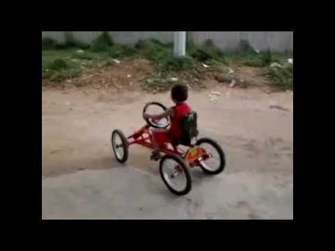 como hacer un cuatriciclo casero a pedal  (home made car)riohacha colombia