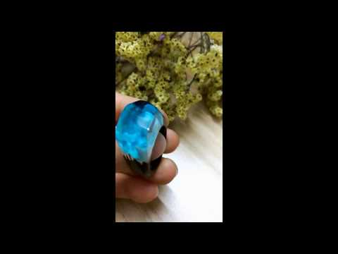 Handcrafted Wood Resin Ring |Magical Miniature Landscapes Ring|flower rings|Smartyleowl-2019-4-13