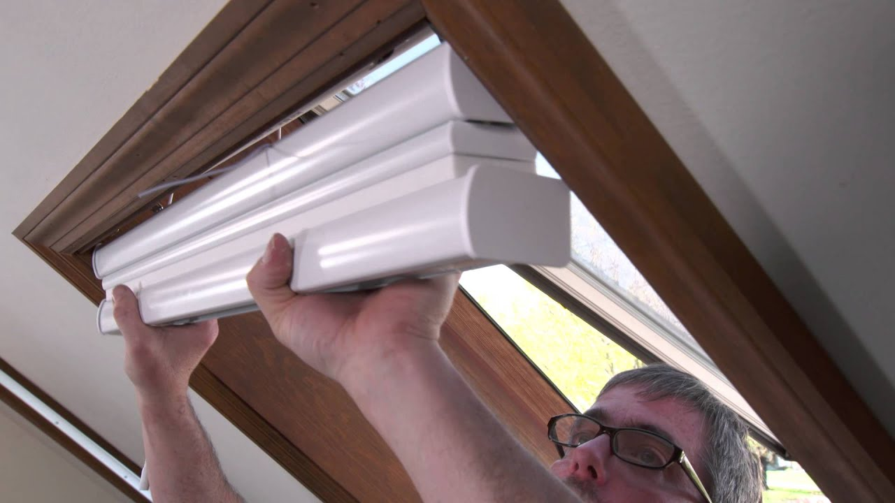Mezzo Motorized Cellular Skylight Shades Installation Youtube