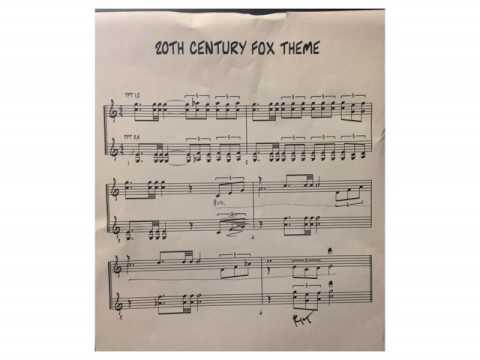 20th Century Fox Trumpet Sheet Music Quadtet