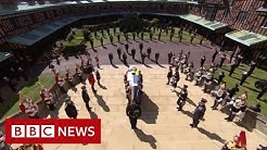Minutes silence held for Prince Philip - BBC News