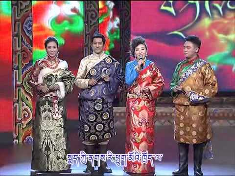 Amdo Tibetan dialect w/ Tibetan Subtitles   Qinghai TV Station Losar Show [Part 2/4]