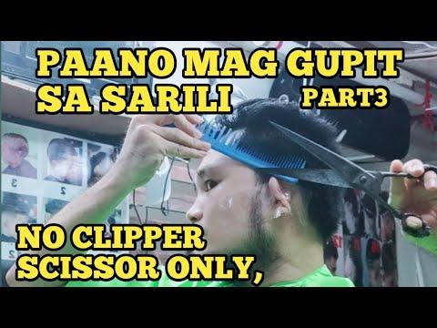 ecq-part3-how-to-cut-your-own-hair-paano-mag-gupit-sa-sarili-gunting-kng-ang-gamit,