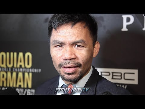 "PACQUIAO ON THURMAN'S RETIREMENT THREAT ""I'VE BEEN IN THE SPORT 2 DECADES. NO ONE CAN INTIMIDATE ME"""