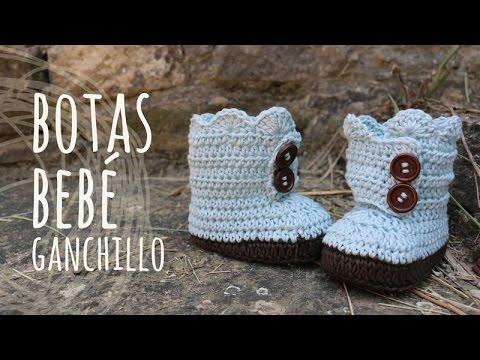 Tutorial Botas Bebé Ganchillo | Crochet - YouTube