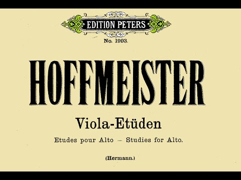 F.A. Hoffmeister 12 Estudies for Alto - Viola