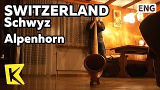 【K】Switzerland Travel-Schwyz[스위스 여행-슈비츠]알프스 목장의 악기 알펜호른/Alpenhorn/Accordion