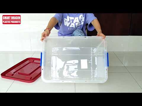 Smart Dragon Plastic Storage Containers Large Semi Transparent PP Storage Boxes