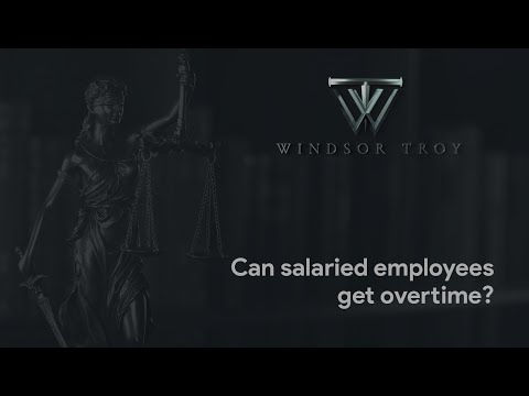 CAN SALARIED EMPLOYEES GET OVERTIME?