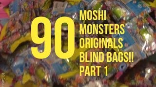 90 X MOSHI MONSTERS ORIGINALS  BLIND BAGS OPENING PART 1!!!