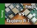 Pine64 VS Raspberry Pi 3 - CPU, Gimp, WEB, Ethernet, KODI, BitTorrent