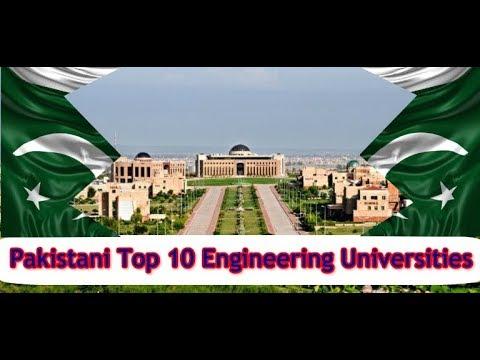 top 10 universities in pakistan for Engineering by PEC 2107
