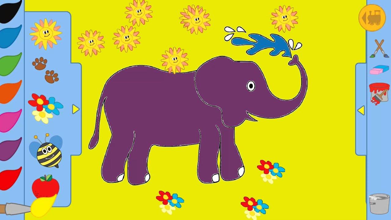 Kinder Zeichen und Malspiel Elefant - YouTube