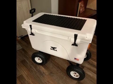 Budget Wheel Idea for YETI Orca RTIC Type Coolers using Harbor Freight Wagon