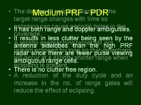 MTI and pulsed doppler radar