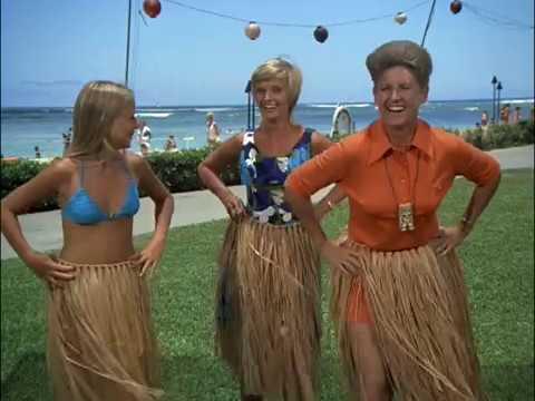 The Brady Bunch - Hawaii - Marcia and Jan learn to hula in bikinis, and Greg nearly drowns