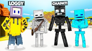 I TROLLED LOGGY AS SKELETON | MINECRAFT