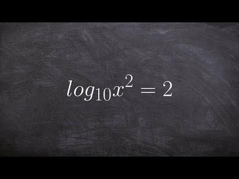 How to solve a logarithmic expression by converting to exponential