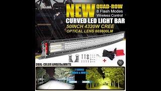 Autofeel 52 4032W OSRAM 50Inch CURVED LED Light Bar