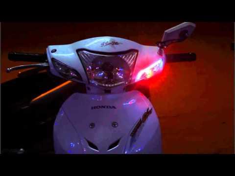 Wave A độ Led Audi, Led siêu sáng luxeon 2 chức năng Demi + Xi nhan