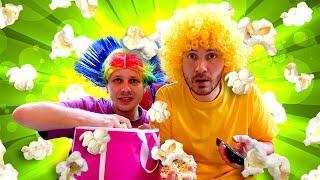 Смешное видео шоу - Нерф битва за Попкорн! – Игры стрелялки для мальчиков.