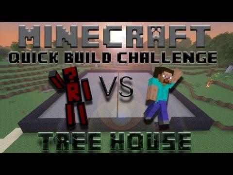 Minecraft Quick Build Challenge - Treehouse! (2v2)
