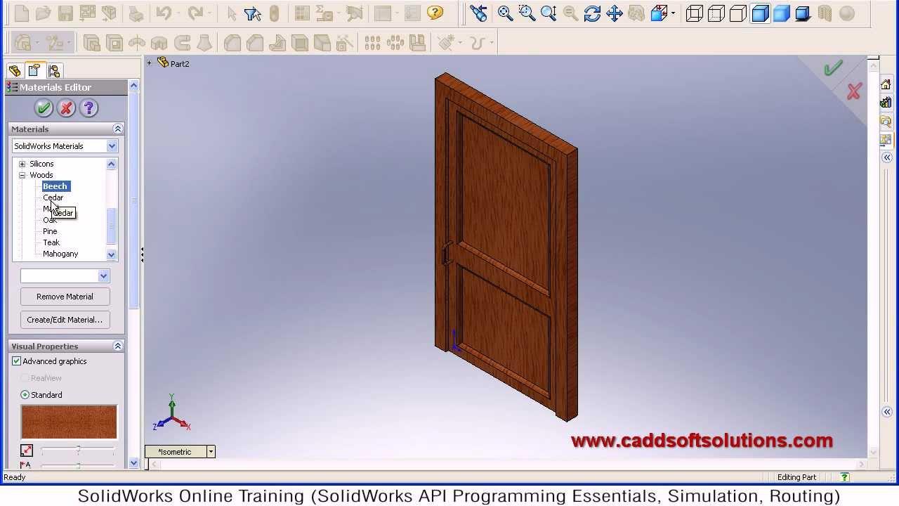 SolidWorks Door Modeling Tutorial  SolidWorks Part
