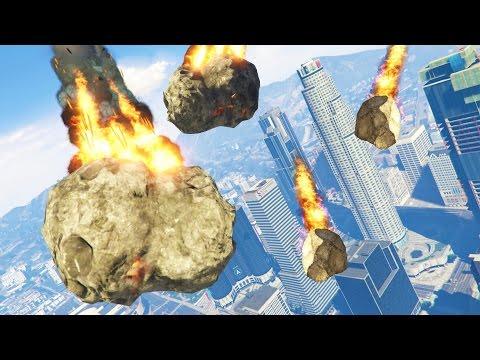GTA 5 Mods - ULTIMATE METEOR SHOWER MOD!! GTA 5 Meteor Armageddon Mod! (GTA 5 Mods Gameplay)