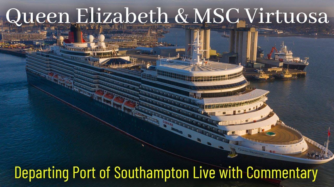 Ships TV - Queen Elizabeth Departing Southampton (Shipspotting)