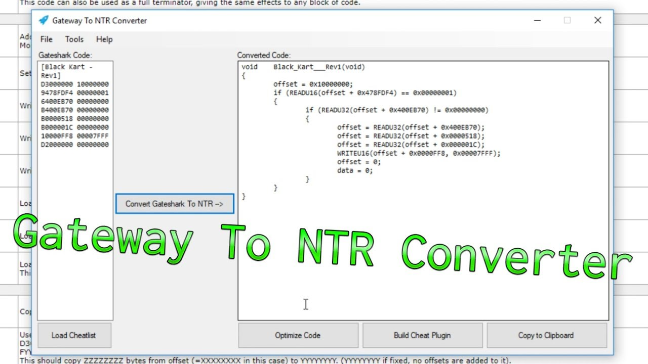 S Online Gateway To Ntr Code Converter Release
