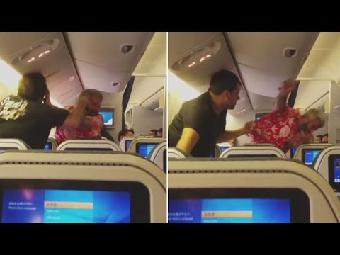 Shocking Video Shows Two Passengers Fighting on Plane Before
