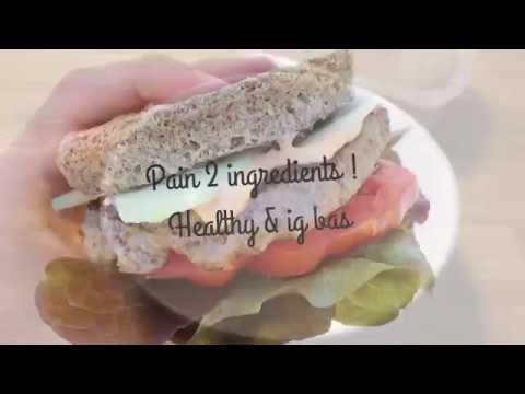 recette-*-pain-2-ingrédients-*-ig-bas-,-sans-gluten-,-helathy