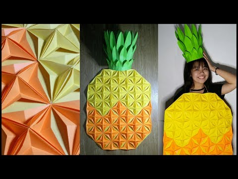 DIY EASY PINEAPPLE COSTUME NUTRITION MONTH AND HALLOWEEN COSTUME