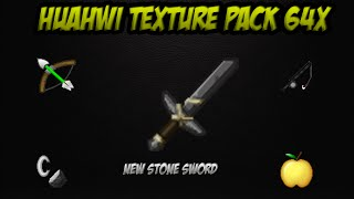 Huahwi Texture Pack 64x [NEW STONE SWORD, MORE FPS, UHC]