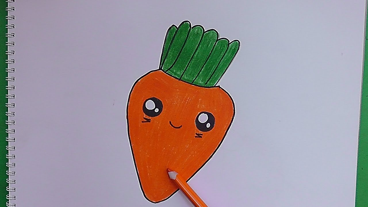Como Dibujar Y Pintar A Zanahoria Divertida How To Draw And Paint Carrot Fun Youtube Jengibre, 1 trozo de 1 cm. como dibujar y pintar a zanahoria divertida how to draw and paint carrot fun