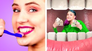 RICH VS POOR WAYS TO SNEAK FOOD ANYWHERE! Clever & Funny Ways to Sneak Snacks by Crafty Panda
