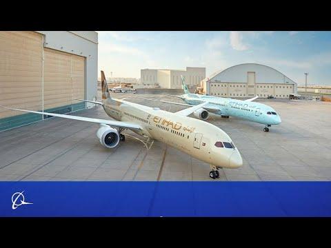 Tour the Boeing 2020 ecoDemonstrator, an Etihad 787-10 Dreamliner