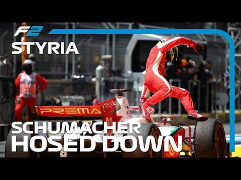 F2 EXCLUSIVE: Mick Schumacher&39;s Fire Extinguisher Meltdown  2020 Styrian Grand Prix