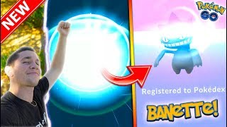 EVOLVING TO BANETTE IN POKÉMON GO! NEW GEN 3 MON IN THE DEX! thumbnail
