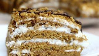 Медовик без раскатки коржей Нежный и вкусный десерт