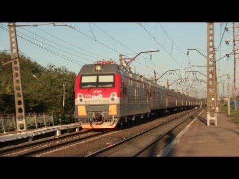 ЭП1М-729 с поездом №198 Иркутск — Кисловодск
