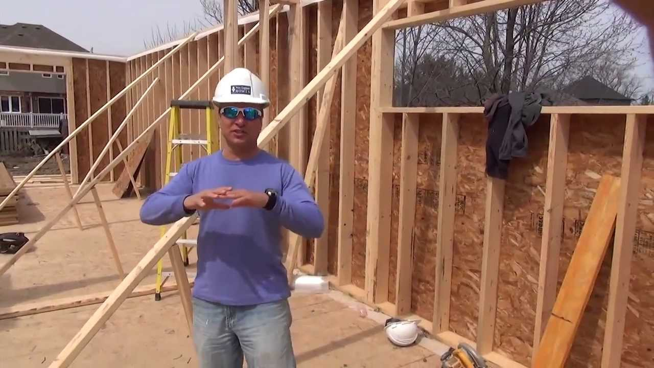 How to build a house framing first floor walls ep 33 for How to go about building a house
