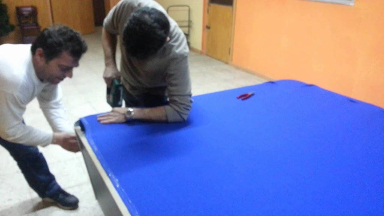 Como tapizar una mesa de billar youtube for Mesas de billar de lujo