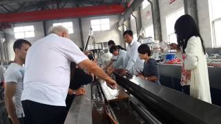 Romania Customer---pe Wpc Wide Floor Production Line ---salerjessica@tongsanextruder.com